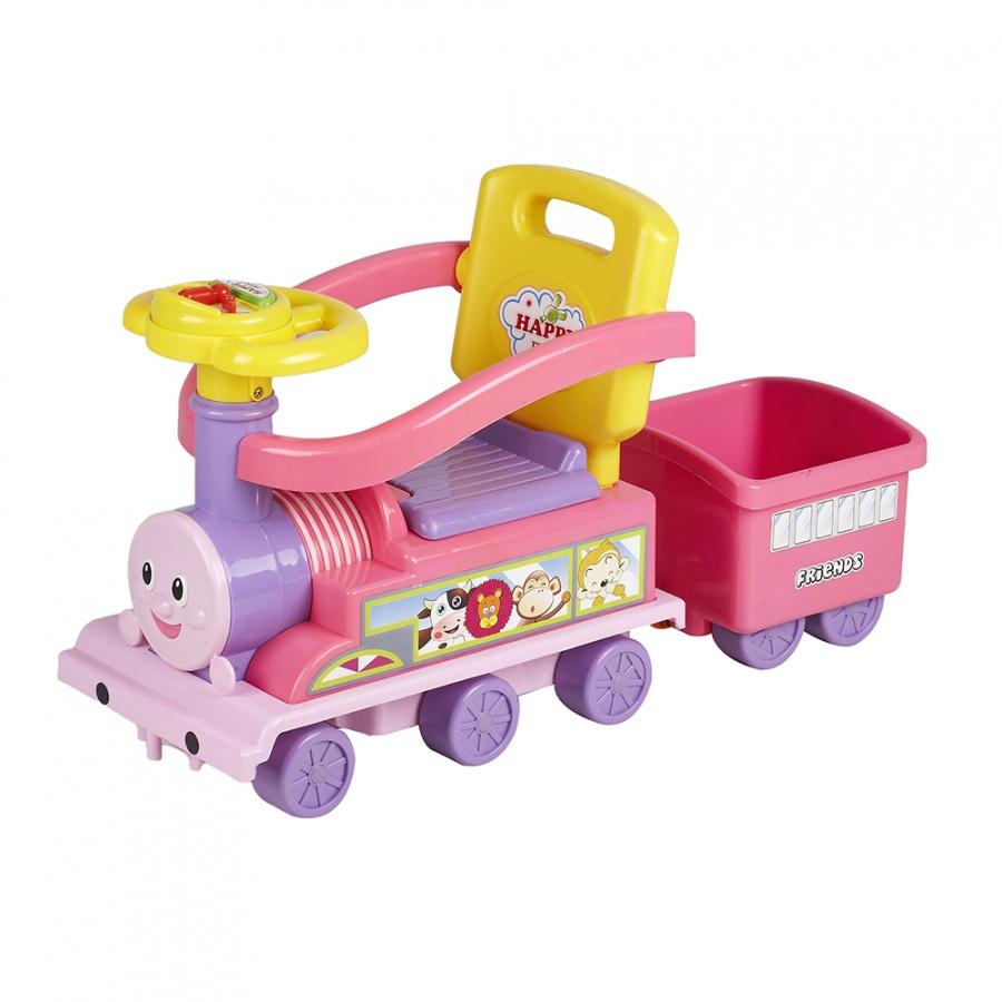 Ningbo Prince Toys Паровоз с бампером Розовый