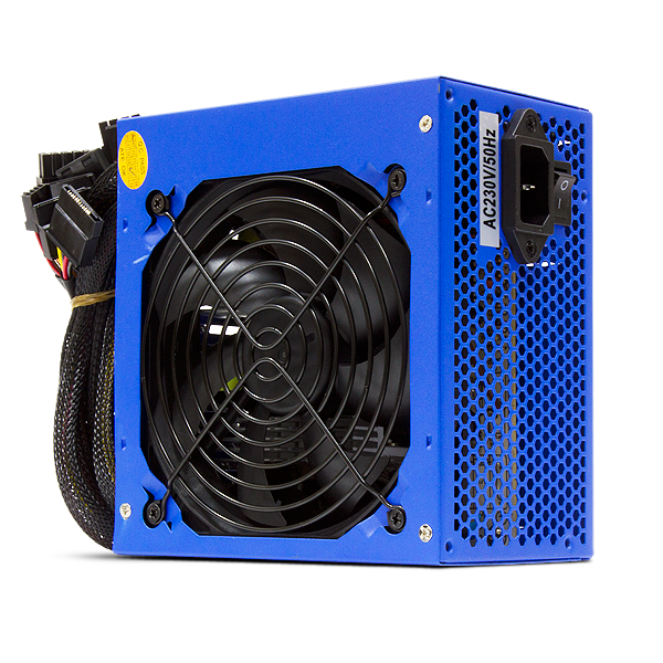 Crown 500W CM-PS500 Fan 12 cm smart - 500 Вт, ATX12V 2.0, 1 вентилятор (120 мм), линия +12В(1) - 20 A • Molex: 4 / SATA: 4 / CPU 4+4pin