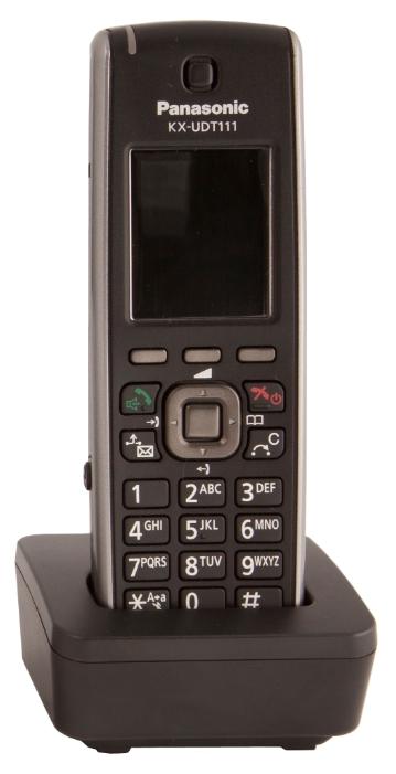 VoIP-телефон Panasonic KX-UDT111RU, есть определитель номера, время работы в режиме разговора 11 ч