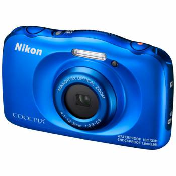 Nikon Coolpix W100 blue - (14.17 млн, оптический zoom: 3x, 1920x1080, 230000 точек, 2.70 дюйма)