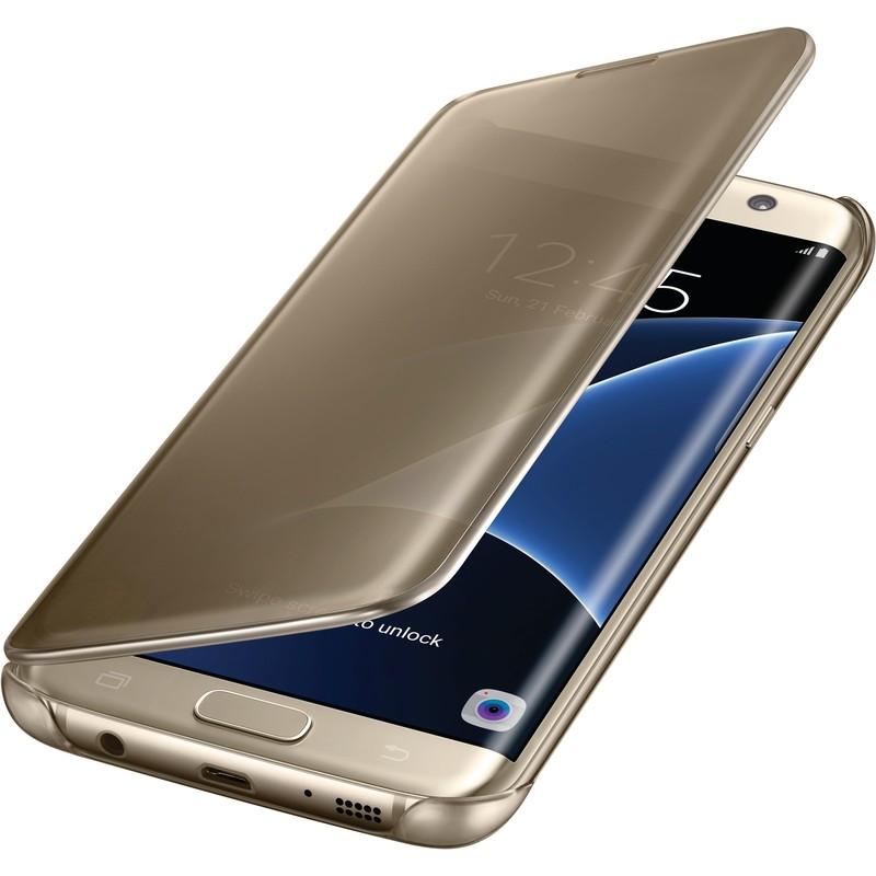Чехол Samsung для Samsung Galaxy S7 edge Clear View Cover gold
