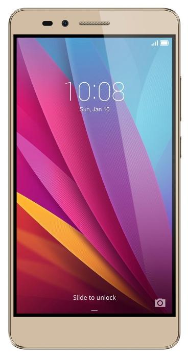 Huawei Honor 5X (KIW-L21) Gold - (; GSM 900/1800/1900, 3G, 4G LTE, LTE-A Cat. 4; SIM-карт 2 (micro SIM+nano SIM); Qualcomm Snapdragon 615 MSM8939; RAM 2 Гб; ROM 16 Гб; ; 13 млн пикс., светодиодная вспышка; есть, 5 млн пикс.; датчики - освещенности, приближения, считывание отпечатка пальца)