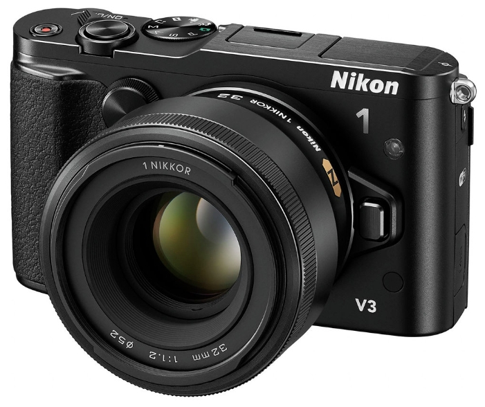 Nikon 1 V3 Kit (VR 10-30mm f/3.5-5.6 PD-ZOOM), black - (18.4 млн, 1920x1080, 60 кадр./сек, ЖК-экран: поворотный, сенсорный, 1037000 точек, 3 дюйма)