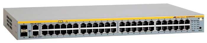 Allied Telesis AT-8000S/48-50 - коммутатор (switch); 48 x Ethernet 10/100 Мбит/сек; пропускная способность 17.6 Гбит/сек; таблица MAC-адресо