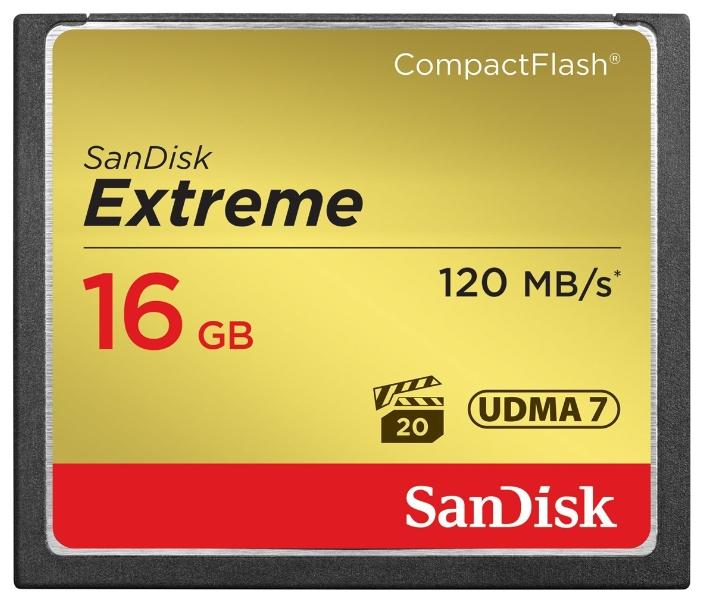 Карта памяти SanDisk Extreme CompactFlash 120MB/s 16GB, SDCFXS-016G-X46