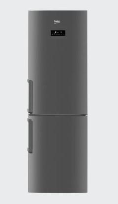 Beko RCNK321E21X stainless steel - (холодильник с морозильником, 301 л (клим.класс SN, T), отдельно стоящий, компрессоров 1, камер 2, дверей 2. Хол-ник 207 л (разм. No Frost). Мор-ник 94 л, внизу (разм. No Frost). ШГВ 60x60x186 см. Дисплей есть. Управление электронное. Энергопотр-е класс A+ (322 кВтч/год). белый)