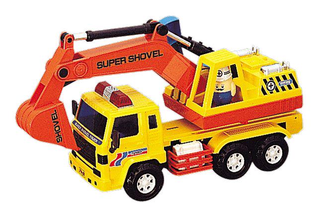 Машинка Daesung машина автоэкскаватор, yellow / orange