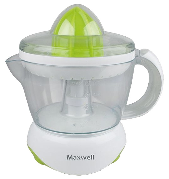 Соковыжималка Maxwell MW-1107G, 25 Вт, количество сменных насадок: 2
