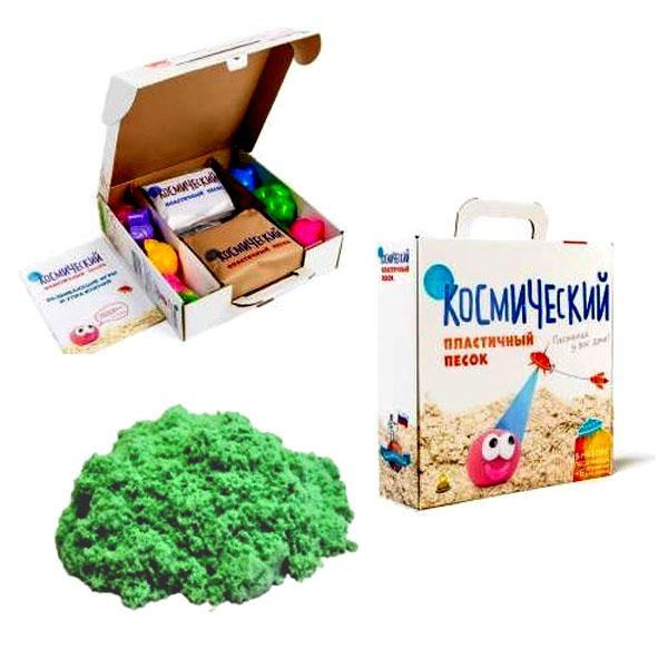 Развивающая игрушка Космический песок набор для лепки 2кг (зеленый)