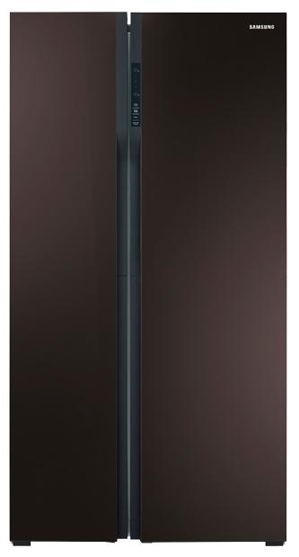 Samsung RS552NRUA9M - (холодильник с морозильником, 538 л (клим.класс SN, T), отдельно стоящий, компрессоров 1, камер 2, дверей 2. Хол-ник 341 л (разм. No Frost). Мор-ник 197 л, Side by Side (разм. No Frost). ШГВ 91.2x70x178.9 см. Дисплей есть. Управление электронное. Энергопотр-е класс A+ (431 кВтч/год). коричневый)