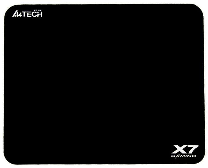 A4 Tech X7-200 MP Black - (250 х 200 х 3; Матерчатая поверхность, нескользящая резиновая основа)