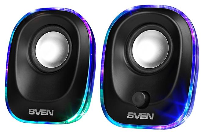 Sven 330, Black - (5 Вт; 90-20000 Гц; полос 1; корпус - пластик; питание от USB-порта)
