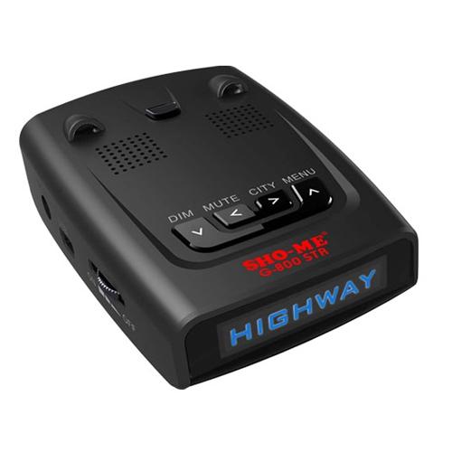 Sho-Me G-800 STR Blue - (Ultra-K, POP, режим Город: есть, количество уровней - 2, режим Трасса: есть, отображение информации: ЖК-дисплей)