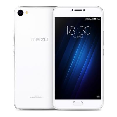 Meizu U10 2/16GB Silver White - (Android; GSM 900/1800/1900, 3G, 4G LTE; SIM-карт 2 (nano SIM); MediaTek MT6750; RAM 2 Гб; ROM 16 Гб; 2760 мАч; 13 млн пикс., светодиодная вспышка; есть, 5 млн пикс.; датчики - освещенности, приближения, гироскоп, компас, считывание отпечатка пальца)