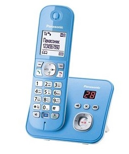 Радиотелефон DECT Panasonic KX-TG6821RUF blue