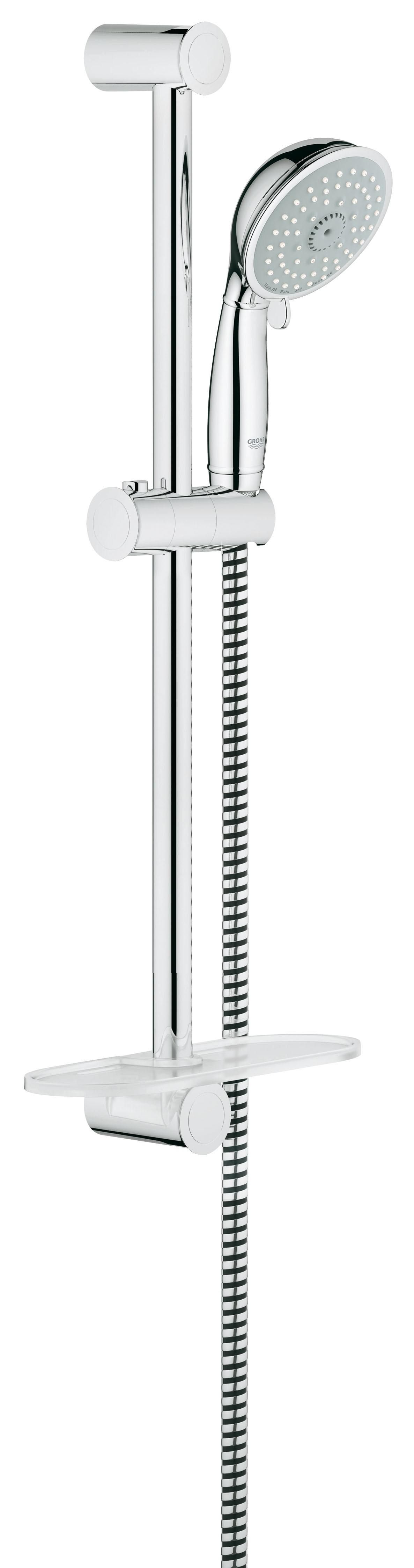 Grohe 27609000 Tempesta Classic (ручной душ, штанга 600 мм, шланг 1750 мм), хром