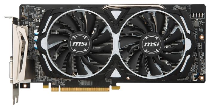 Видеокарта MSI Radeon RX 480 1291Mhz 4096Mb 7000Mhz 256 bit RX 480 ARMOR 4G OC