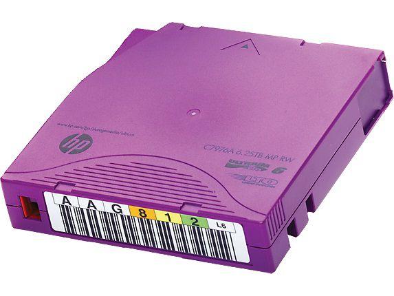 Кассета HP C7976AN 6.25TB MP RW (LTO6 Ultrium) + 20 этикеток