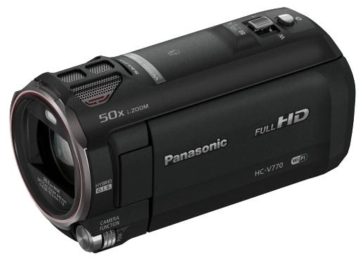 Panasonic HC-V770 Black - (Zoom: 20x / 60x, 12.76 Мпикс, карты памяти: SD, SDHC, SDXC, стабилизатор изображения: есть)