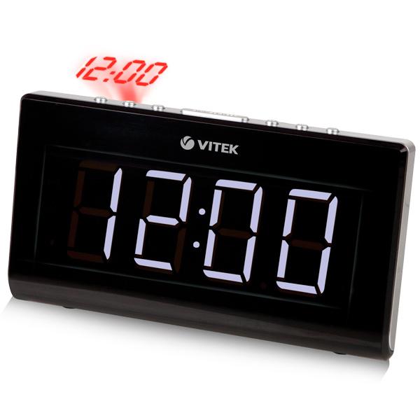 VITEK VT-3517 - радиобудильник; FM, УКВ; настройка аналоговая; питание от сети - есть