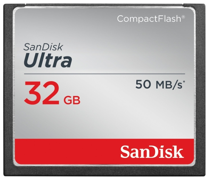 Карта памяти SanDisk CompactFlash Ultra 50MB/s 32GB