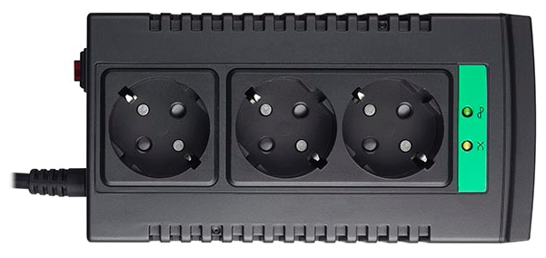 Стабилизатор напряжения APC Line-R LS1500-RS, Black, (3 розетки, 1 м.)