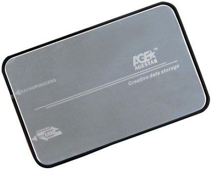 "Корпус для жесткого диска AgeStar 3UB2A8S-6G, usb3.0 to 2,5""hdd SATA3 алюминий"