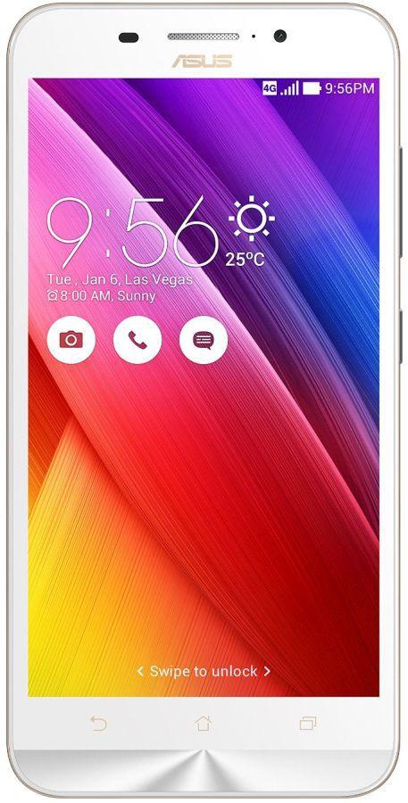 ASUS ZenFone Max ZC550KL 90AX0106-M0103 White - (; GSM 900/1800/1900, 3G, 4G LTE, LTE-A Cat. 4; SIM-карт 2 (Micro SIM); Qualcomm Snapdragon 410 MSM8916, 1200 МГц; RAM 2 Гб; ROM 16 Гб; 5000 мА?ч; 13 млн пикс., светодиодная вспышка; есть, 5 млн пикс.; датчики - освещенности, приближения, компас)
