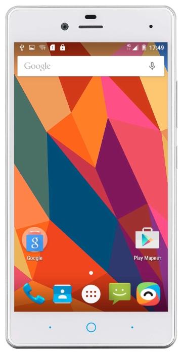 ZTE Blade A476 white - (; GSM 900/1800/1900, 3G, 4G LTE; SIM-карт 2 (nano SIM); MediaTek MT6735P, 1000 МГц; RAM 2 Гб; ROM 8 Гб; ; 8 млн пикс., светодиодная вспышка; есть, 5 млн пикс.; датчики - освещенности, приближения)