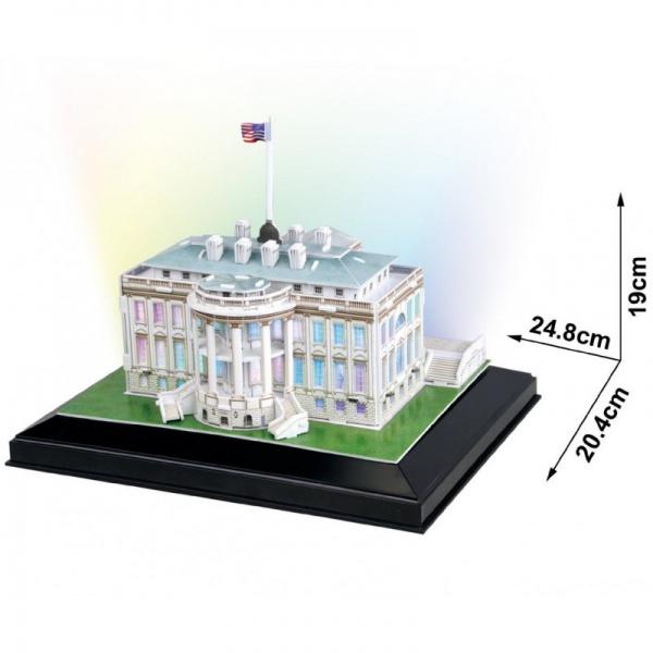 Паззл CubicFun Белый дом с иллюминацией (США)