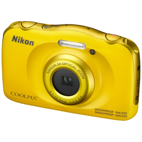 Nikon Coolpix W100 yellow - (14.17 млн, оптический zoom: 3x, 1920x1080, 230000 точек, 2.70 дюйма)