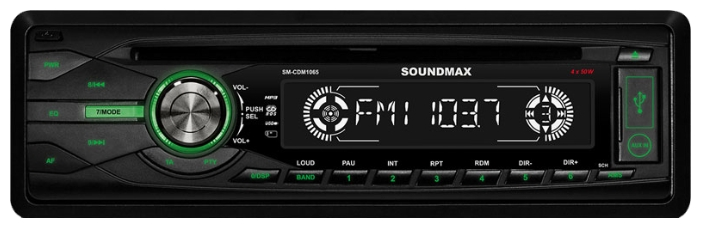 Автомагнитола SoundMAX SM-CDM1065 SM-CDM1065 Bl/G