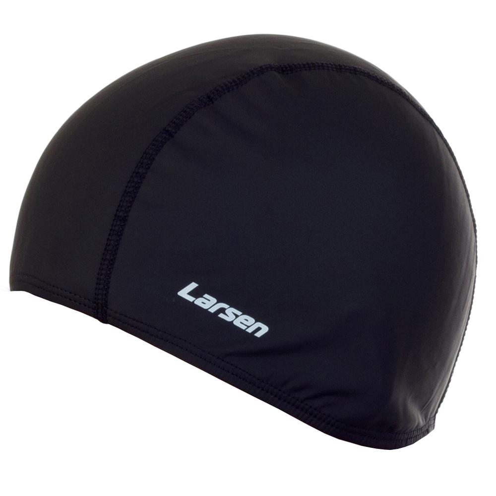 Шапочка плавательная Larsen 3059, эластан, черный