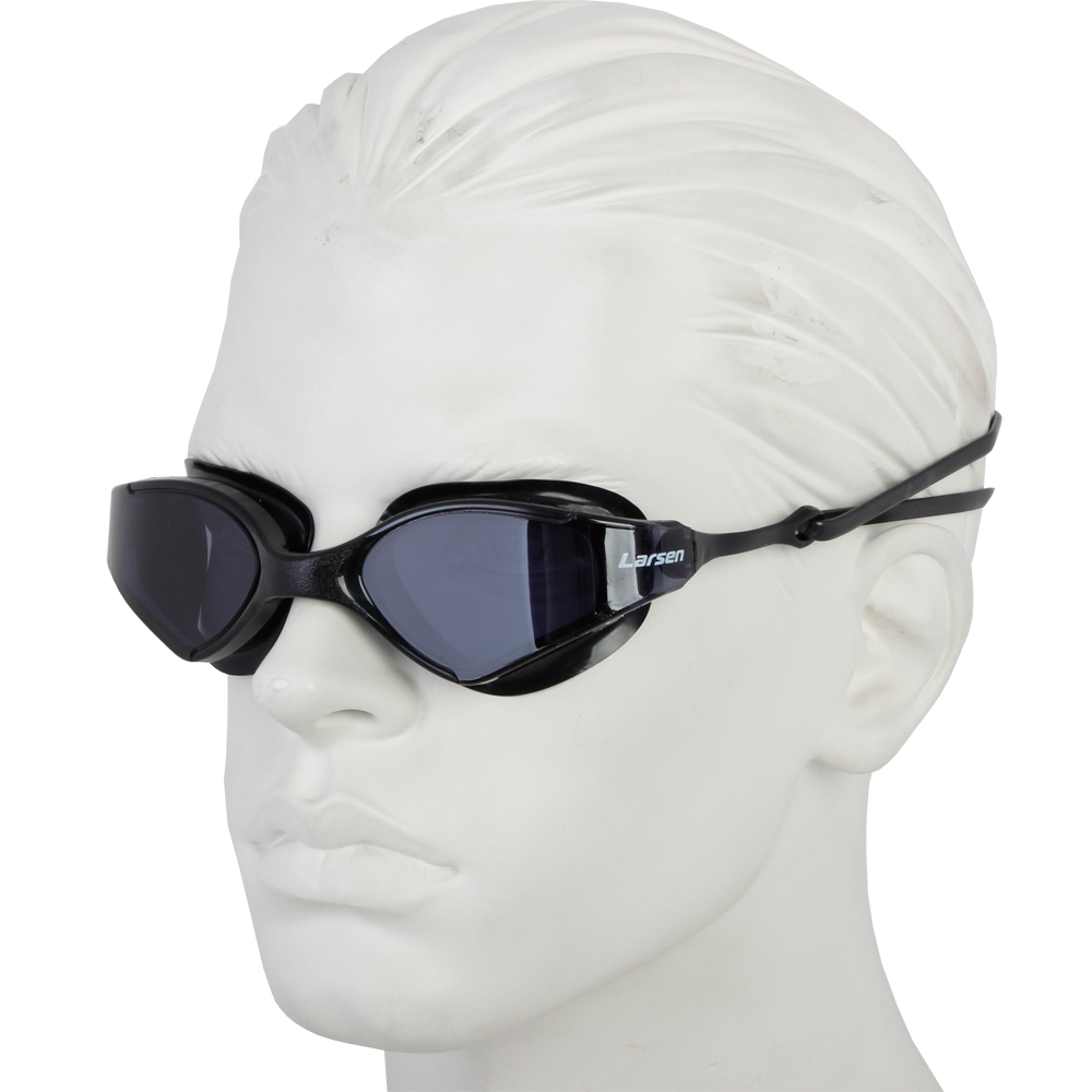 Очки плавательные Larsen S53 черный (ТРЕ)