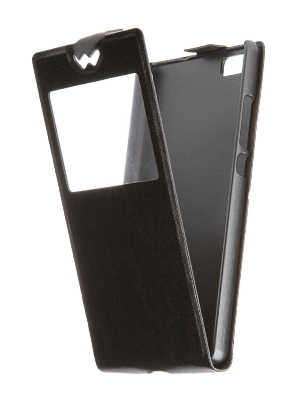 Чехол SkinBox для Huawei P8 Black T-S-HP8-001