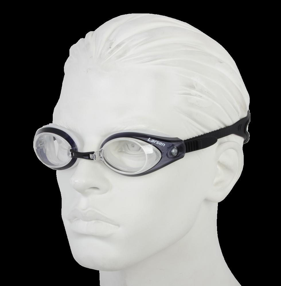 Очки плавательные Larsen R42 прозрачный/черный (силикон)