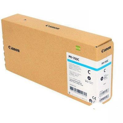 Картридж струйный Canon PFI-703 C, Cyan 2964B001