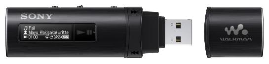 Sony Walkman NWZ-B183F, black - (Экран - LCD монохромный; 4 Гб; USB 2.0 (прямое подключение))