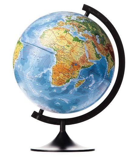 Globen Классик 320 (К013200015), физический - Глобус Земли физический; диаметр 320 мм