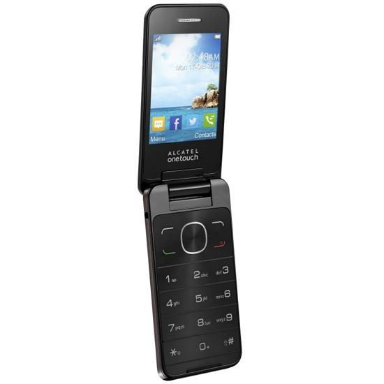 Alcatel OneTouch 2012D Dark Chocolate - (2.8 дюйм., 320x240, 16 Мб, microSD (TransFlash), объемом до 8 Гб, кол-во SIM-карт: 2, фотокамера: 3 млн пикс.)