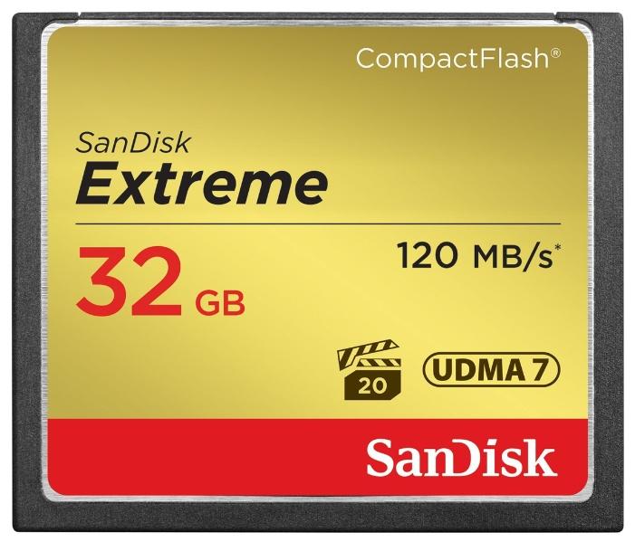Карта памяти SanDisk Extreme CompactFlash 120MB/s 32GB