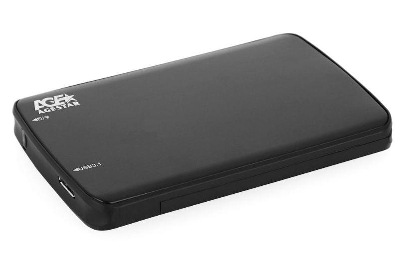 Корпус для жесткого диска AgeStar 31UB2A12 (USB3.1b), Black