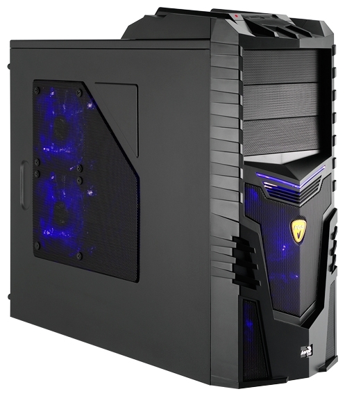 "AeroCool X-Warrior Black Edition, Black - Midi-Tower • ATX, mATX • БП нет • Отсеки: 5.25""-3, 3.5""(внеш)-1; 3.5""(внутр)-4;"