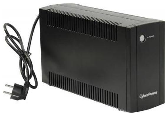 CyberPower UT1050EI - (интерактивный; 1050 ВА / 630 Вт; в среднем 5 мин; вход 165 - 290 В; розеток 4 (из них с питанием от батарей - 4))