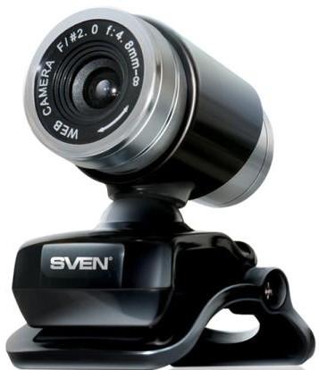 Sven IC-720, Black - 640x480; 0.3 млн пикс., CMOS; микрофон встроенный; фокусировка ручная; USB 2.0 SV-0601IC720A