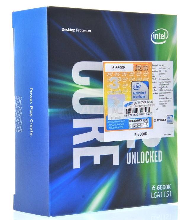 Процессор Intel Core i5-6600K Skylake (3500MHz, LGA1151, L3 6144Kb), BOX