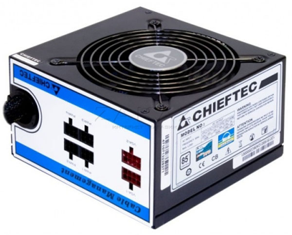 Chieftec CTG-750C 750W - 750 Вт, ATX12V 2.3, 1 вентилятор (120 мм), PFC активный, линия +12В(1) - 35 A, линия +12В(2) - 35 A • Разъёмы