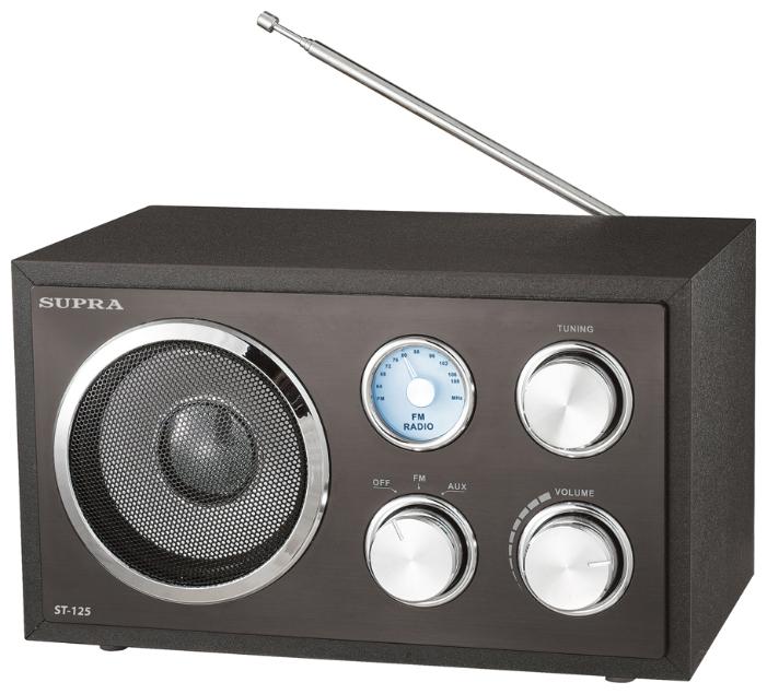 Радиоприёмник Supra ST-125 black