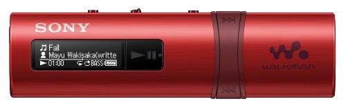Sony Walkman NWZ-B183F, red - (Экран - LCD монохромный; 4 Гб; USB 2.0 (прямое подключение))