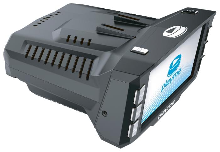 """Playme P200 - (с камерой, с экраном; 1280x720 при 30 к/с; каналов в/а - 1/1; CMOS 1/4""""; 120° (по диагонали); microSD (microSDHC) до 32 Гб; Экран 2.7""""; GPS-модуль есть)"""